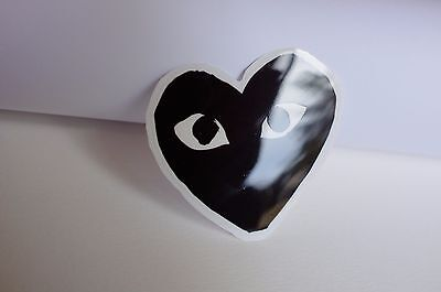f0735ff1cce3 comme des garcons logo Black heart 7 cm glossy surface Decal Sticker  1307