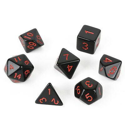 7pcs/Set Multi-sided RPG Game Dices Dungeons&Dragons D4-D20 Board Game Dice