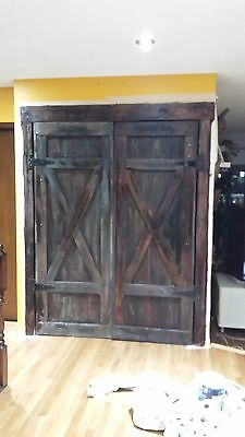 antique barn doors width combined 60 inches and height 78 inches