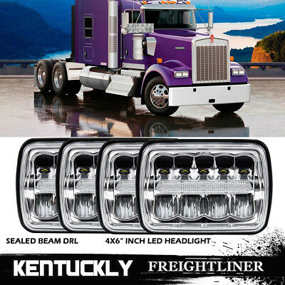 4PCS LED projector headlights high low beam Freightliner FLB Cabover replace hid
