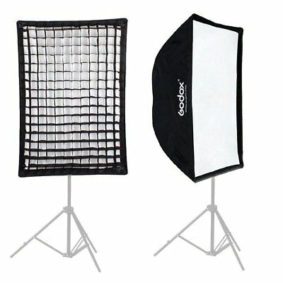 Godox 60x90cm Rectangle Umbrella Softbox w/ Honeycomb Grid fr Flash Speedlite