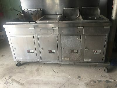 SOUTHBEND Large DEEP FRYER Model #18-36 STAINLESS STEEL Natural Gas