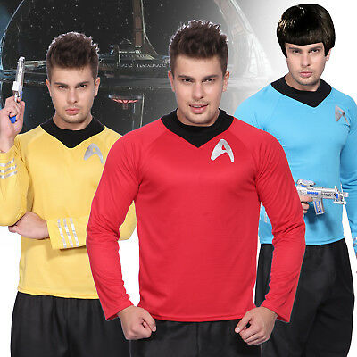 STAR TREK Uniform T-Shirt Herren Raumschiff Enterprise Fasching Kostüm Karneval