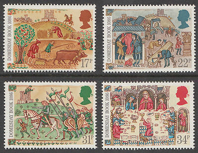 GB MNH STAMP SET 1986 Domesday Book SG 1324-1327 10% OFF FOR ANY 5+