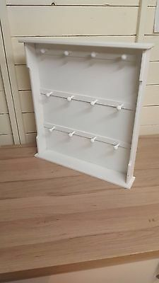 White Display Stand Rack Storage Free stand Jewellery Key ring UPCYCLE Shabby