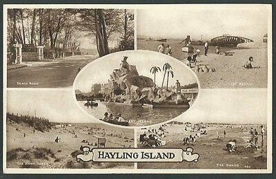 Hayling Island Hampshire Portsmouth Multiview 1939 Mills Printed Postcard