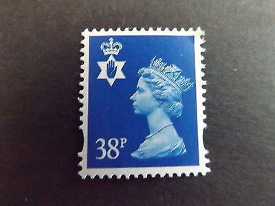 GB QEII Northern Ireland. SG NI83 38p Ultramarine 2B. Regional Machin