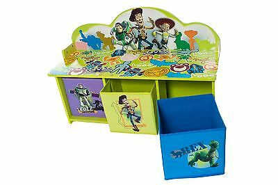 Toy Story Bench with 3 Bins Childrens Toy Storage Kids Bedroom Playroom Tidy