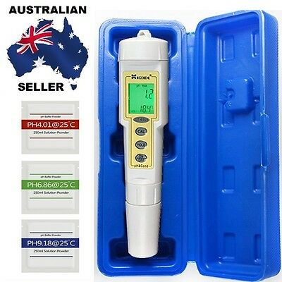 PH Conductivity Temperature Meter Tester Electrode Laboratory With Buffer