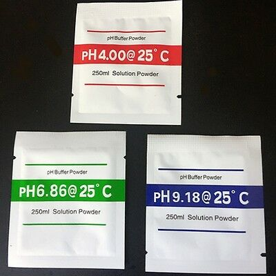 pH Powder Buffer Calibration Sachet pH4.00 / pH6.86 / pH9.18 250mL Solution Pack