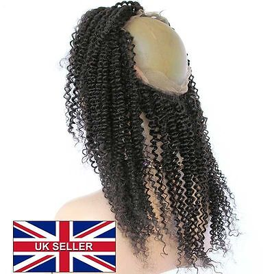 """360 lace frontal closure 100% human hair Brazilian 16"""" curly"""
