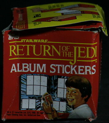 1983 Rare Return of The Jedi Sticker Box – Unopened – By Topps
