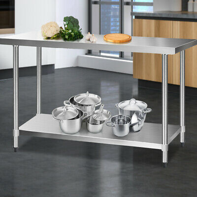 Kitchen Bench Stainless Steel Table Home Cooking Work Food Prep Commercial 430