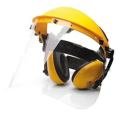 Portwest PW90 PPE Safety Protection Kit Face Shield Ear Muffs - Yellow