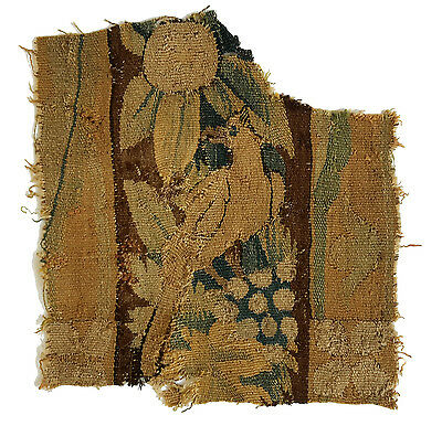 A Late 16th Century Tapestry Fragment Depicting a Bird