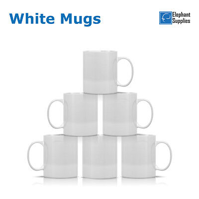 Sublimation Mugs White 11oz Coated Cup Blank Heat Press Transfer Blank Mug