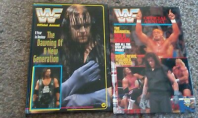 WWF/WWE Wrestling The Official Annual 1995 and 1992