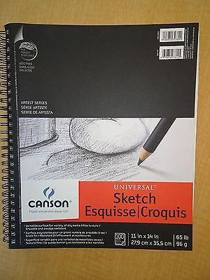"New Canson Universal Spiral Sketch Binder - 100 pages - 11"" x 14"""