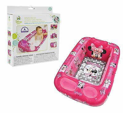 Disney Minnie Mouse Inflatable Safety Bathtub Pink NEW FREE SHIPPING