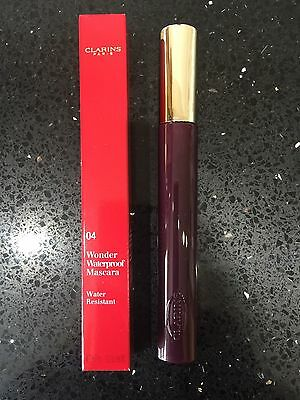 CLARINS Wonder Waterproof Mascara - 04 Wonder Plum - BNIB