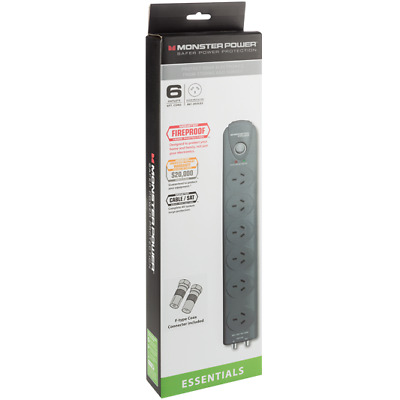 New Monster - 6 Outlet Powerboard - 123065