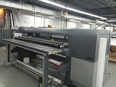 "Hewlett-Packard/HP Scitex FB 700 98"" Flatbed UV Printer w White Ink and RtoR"