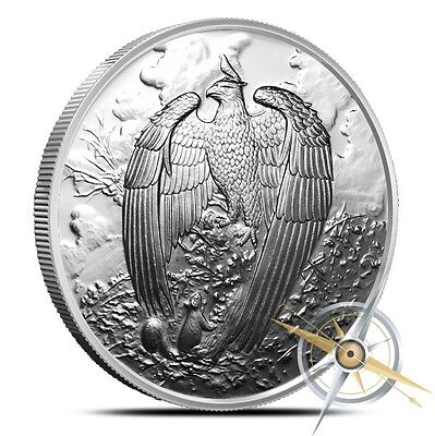 Nordic Creatures Series The Great Eagle - The World Tree 1 oz Silver Proof Round