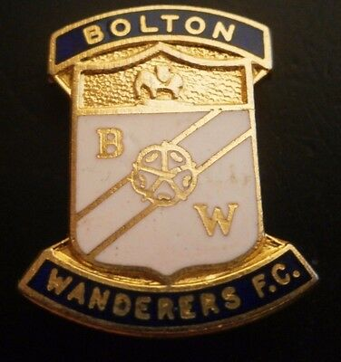 Bolton Wanderers Fc Bw Football Club Crest Brooch Pin Badge