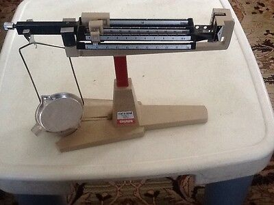 Ohaus Cent-O-Gram balance 311g scale w/suspended pan and tray