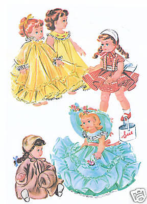 "2084 Vintage Chubby Mini-Doll Pattern - Size 7-8"" - Korean War Year 1951"
