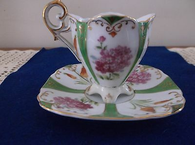 """UCAGCO CHINA """"MADE IN OCCUPIED JAPAN"""" Footed Demitasse Cup & Saucer"""