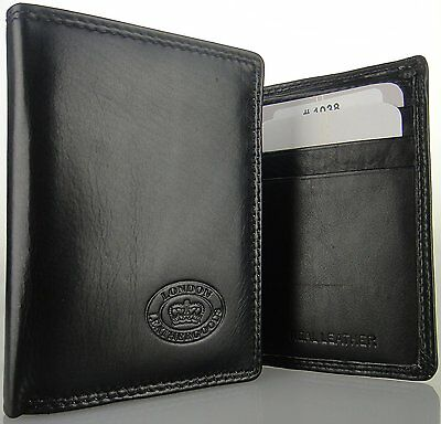 Mans Gents Real Genuine Leather Soft Cow Nappa Tri Fold Wallet by The Mouve