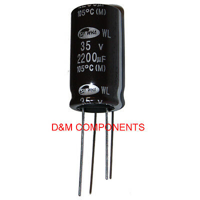 2200uF 35V Ultra Low ESR Electrolytic Capacitors 105'C, Pack of  2,5 or 10