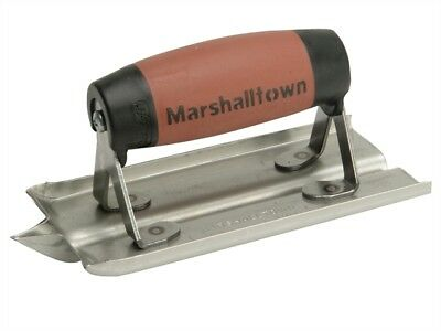 Marshalltown M/T180D M180D Stainless Steel Groover Trowel Durasoft� Handle 6in x