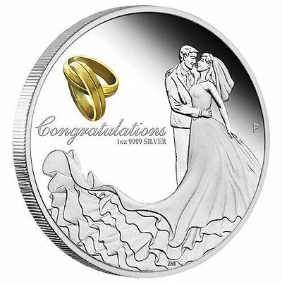Perth Mint 1 oz Silver Wedding Proof Coin 2017