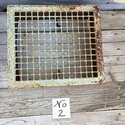 "Vtg.  Metal Floor Grate/Heated Register Or Grill Salvaged Vent 16"" x 14"""