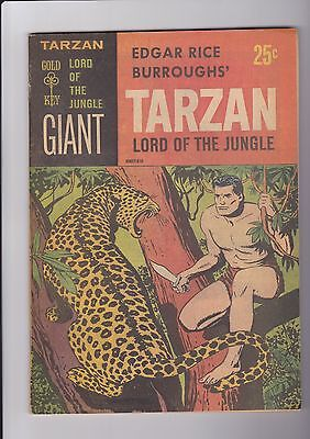 TARZAN Lord of the Jungle GIANT Sept. 1965, Gold Key soft paper cover VF