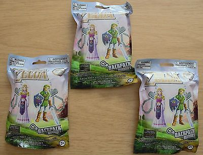 Lot of 3- The Legend of Zelda Mystery Backpack Clip Buddies- Random Characters