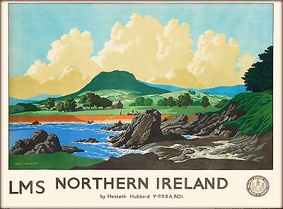 LMS North Ireland Irish United Kingdom Vintage Travel Advertisement Art Poster