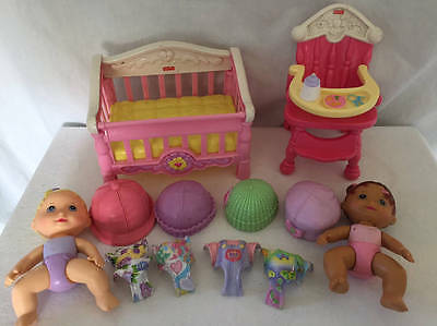 Fisher Price SNAP N STYLE Babies Doll High Chair Crib +