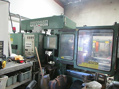 Cincinnati Milacron 375 TON Injection Mold Machines (2) Avail with Accessories