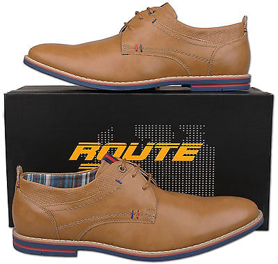 Mens New Tan Lace Up Casual Fashion Shoes Size 6 7 8 9 10 11 12