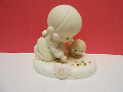 Precious Moments Growing in Grace figurine Blonde Age 8 girl puppy 163759