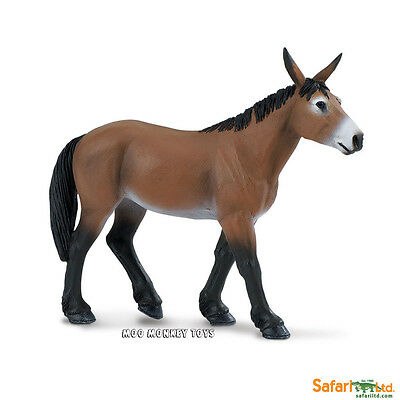 MULE Safari Ltd # 249429 Farm Barnyard Animal REPLICA donkey horse cross NWT