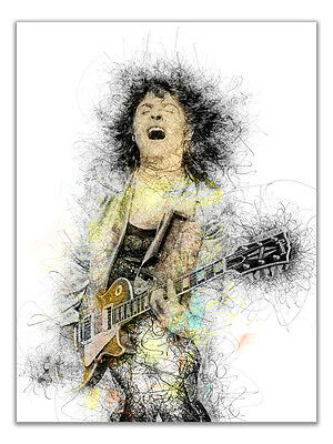 Marc Bolan T Rex Full Colour Canvas or Poster Mickey Finn Glam Rock 3 Sizes