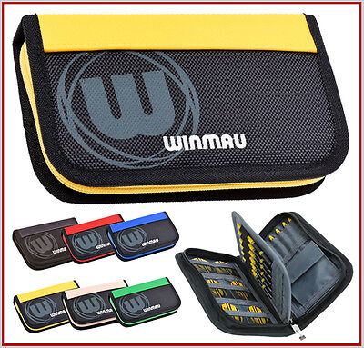 WINMAU Urban Per Dart Bag place with a lot for Accessories and 2 Sets yellow