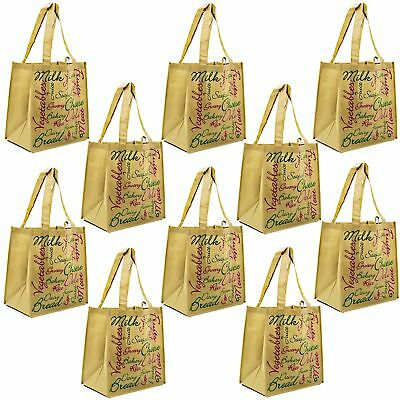 ReBagMe Large Reusable Grocery Bag Totes with Extra Reinforced Handles - Brow...