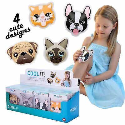 COOL IT CATS & DOG - Kids Cold or Hot Pack Bump Bruises Injury Soother Reusable!