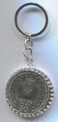 2014 Australian 50cent Coin Keyring - 50 Years of AIATSIS  #5033