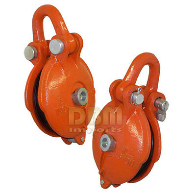 "6 Ton Bail Snatch Block Wire Rope Hoist Rigging With Shackle 6"" Pulley"